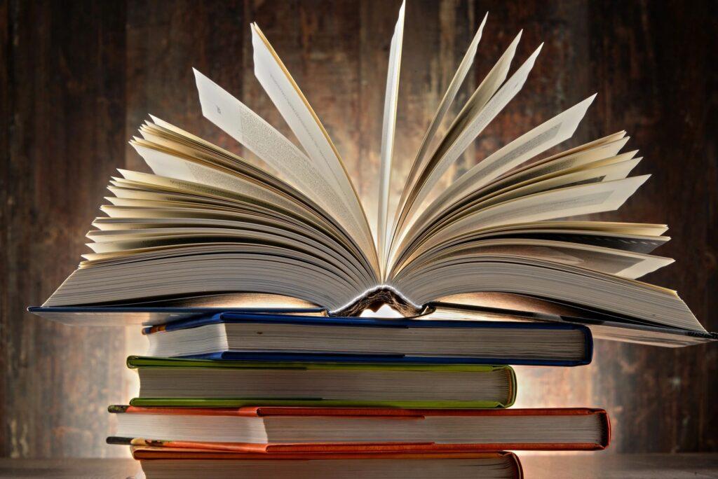 An image of an open book