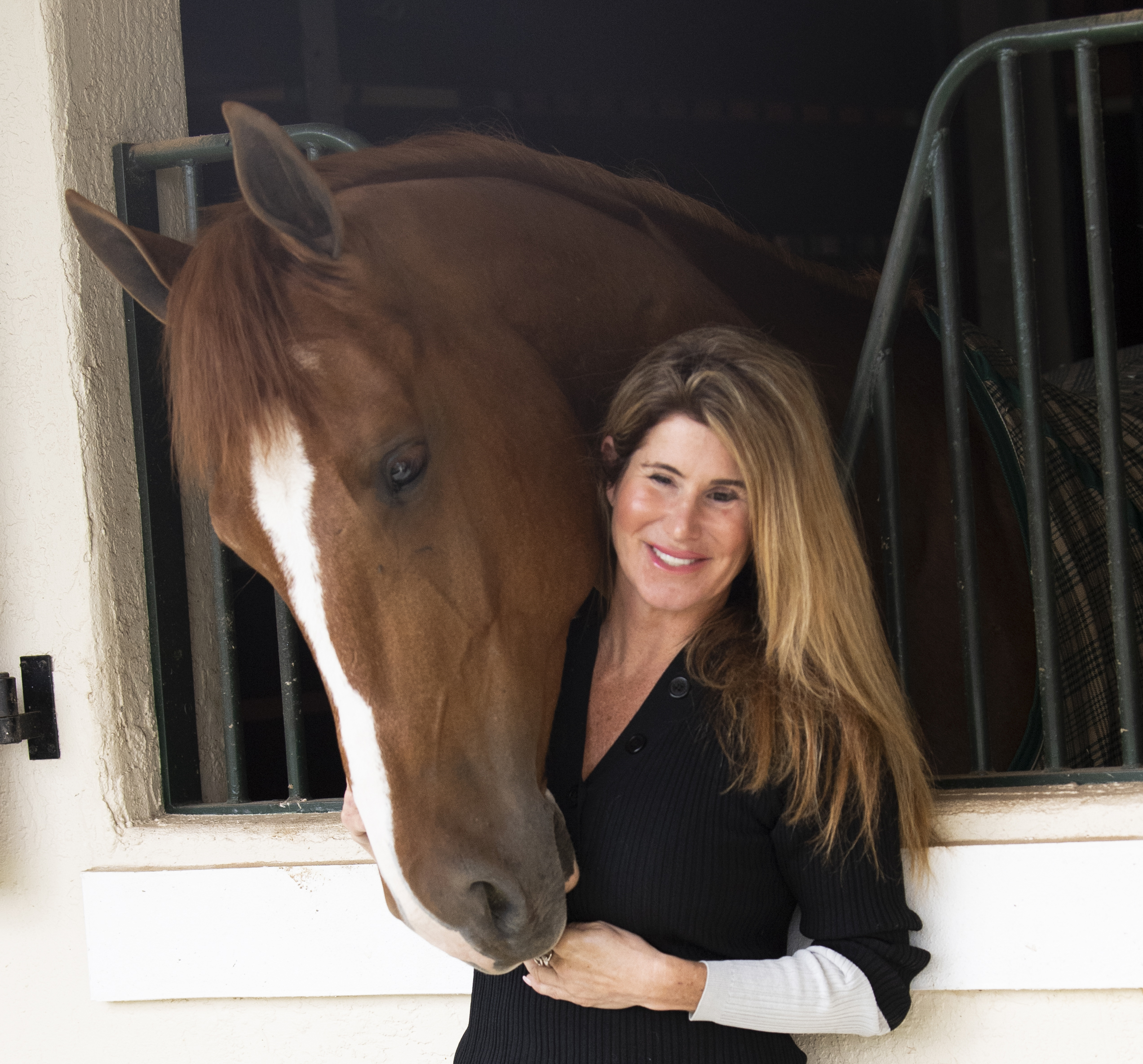 Lissa Bachner with a horse